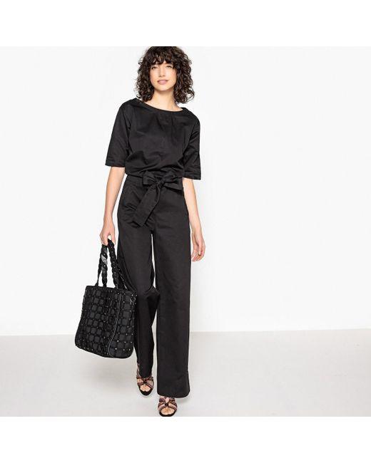 LA REDOUTE - Black Wide Leg Jumpsuit - Lyst