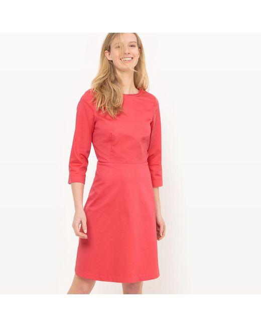 LA REDOUTE   Pink Plunge Back Dress   Lyst