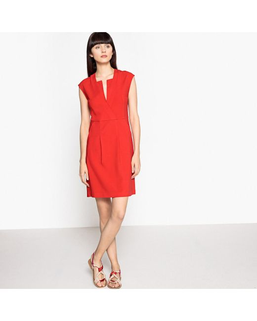 LA REDOUTE   Short-sleeved Flared Dress With Stylish Neckline   Lyst