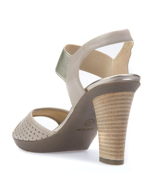 GEOX D Jadalis C High Heeled Leather Sandals discount perfect S4n6lLUjJk