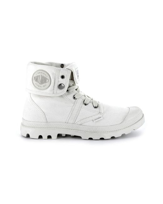 Palladium - White Pallabrouse Baggy High Top Trainers - Lyst