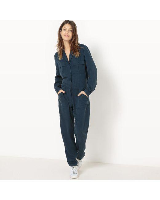 LA REDOUTE - Blue Plain Jumpsuit - Lyst