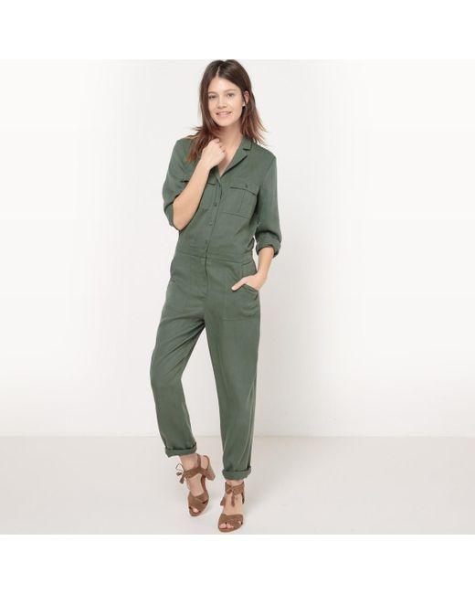 LA REDOUTE - Green Plain Jumpsuit - Lyst