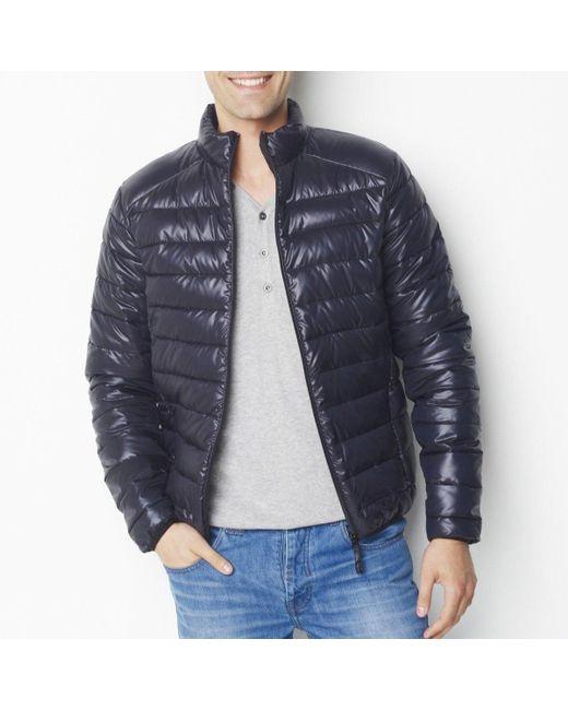 LA REDOUTE | Black Slim Fit Padded Jacket for Men | Lyst