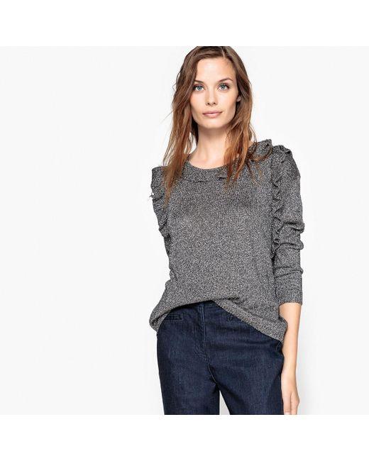 See U Soon - Metallic Crew Neck Fine Gauge Knit Jumper/sweater - Lyst