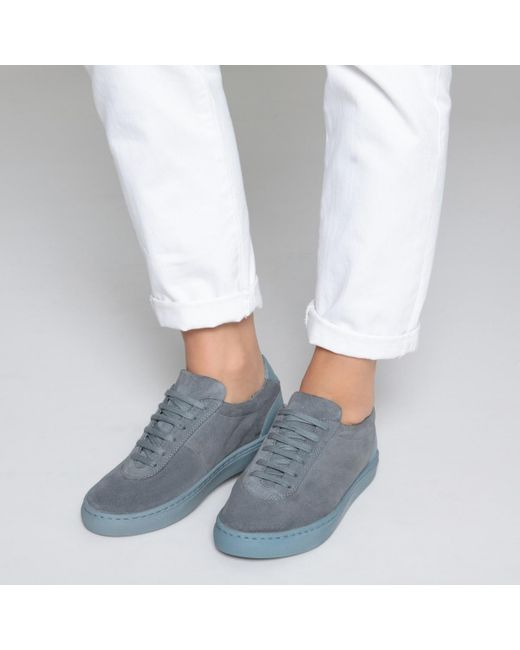476b10c3de709 Lyst - La Redoute Dual Leather Trainers in Gray for Men