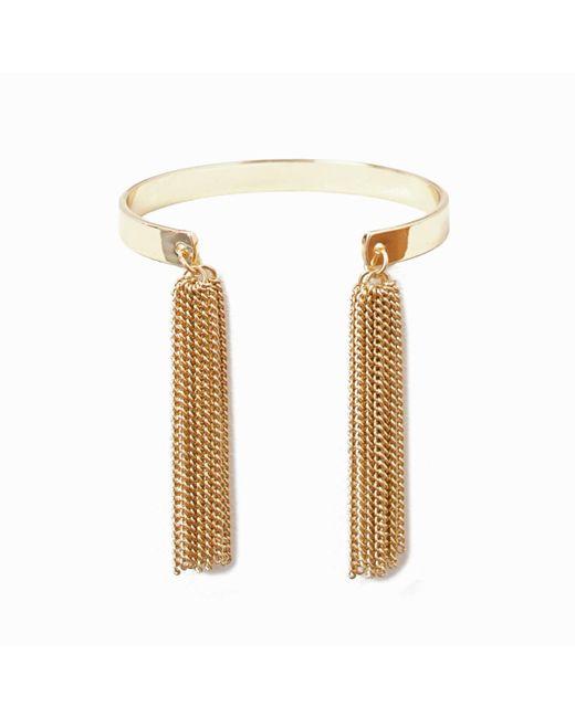 LA REDOUTE | Metallic Bracelet With Metal Tassels | Lyst