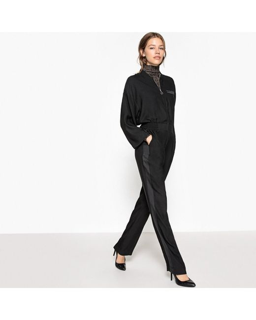 LA REDOUTE - Black Loose Fit Wide Leg Jumpsuit - Lyst