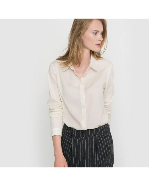 la redoute shirt made in france in white lyst. Black Bedroom Furniture Sets. Home Design Ideas