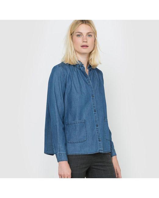 LA REDOUTE - Blue Long-sleeved Denim Shirt - Lyst