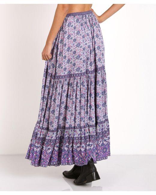 spell kombi button maxi skirt lavender in purple lyst