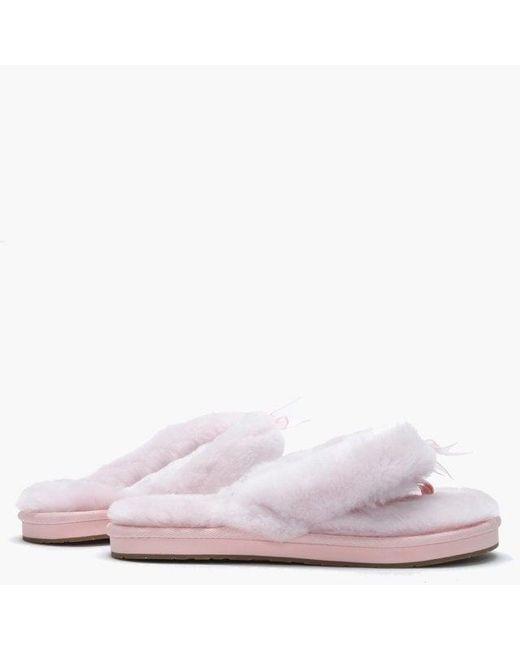 cca4d341c73 Lyst - UGG Women's Fluff Ii Seashell Pink Flip Flop Slippers in Pink