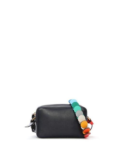 Anya Hindmarch | Blue Circle Mini Navy Leather Cross-body Bag | Lyst