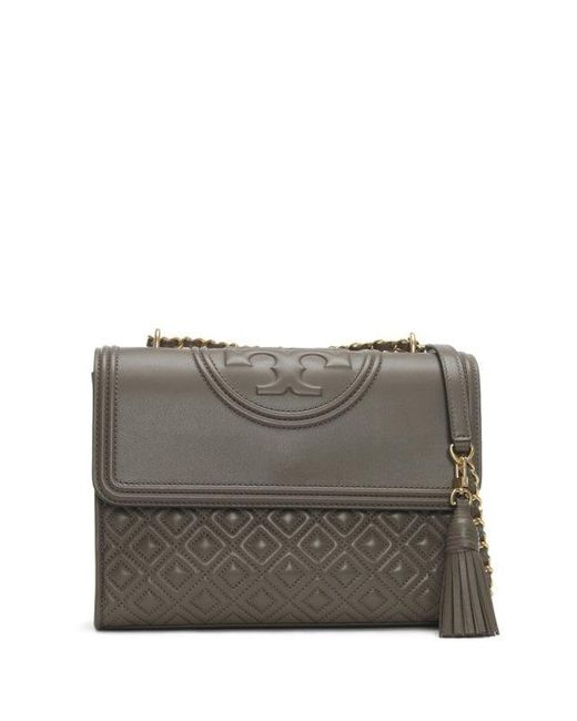 4f7ecdce3bcc Tory Burch - Multicolor Fleming Convertible Silver Maple Leather Shoulder  Bag Colou - Lyst ...