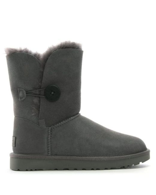 Ugg - Gray Bailey Button Ii Stormy Grey Twinface Boot - Lyst ...