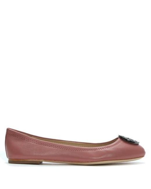 Tory Burch - Liana Pink Leather Ballet Flats - Lyst ...