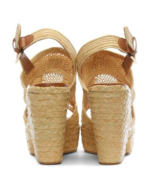 a31103d30b5 Lyst - Robert Clergerie Dypaille Wedge Sandal in Natural - Save 45%