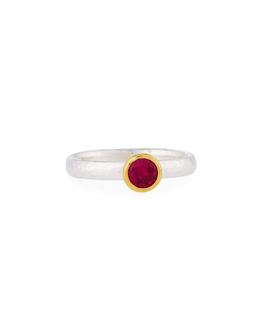 Gurhan   Red Skittle Simulated Ruby Stacking Ring   Lyst