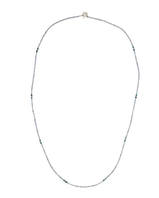 Armenta   Long Iolite & Green Onyx Beaded Necklace   Lyst