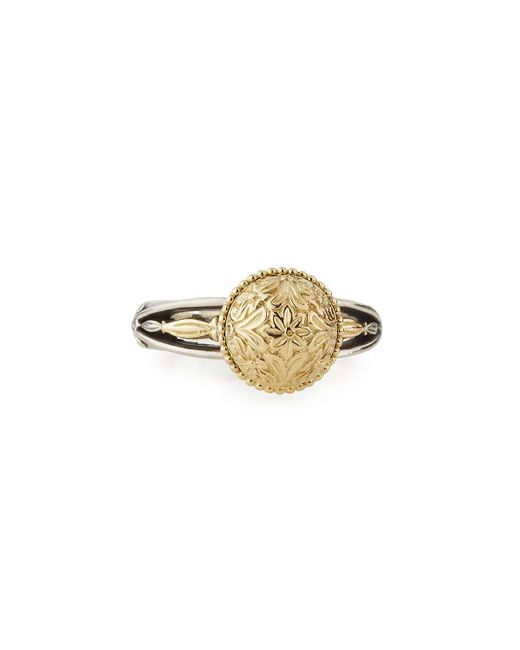 Konstantino   Metallic Eros Etched Dome Ring   Lyst