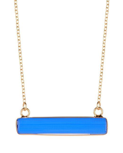 Panacea - Blue Royal Cat Eye Rectangular Pendant Necklace - Lyst