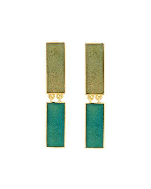 Stephanie Kantis | Blue Heraldry Rectangular Aqua Resin Drop Earrings | Lyst