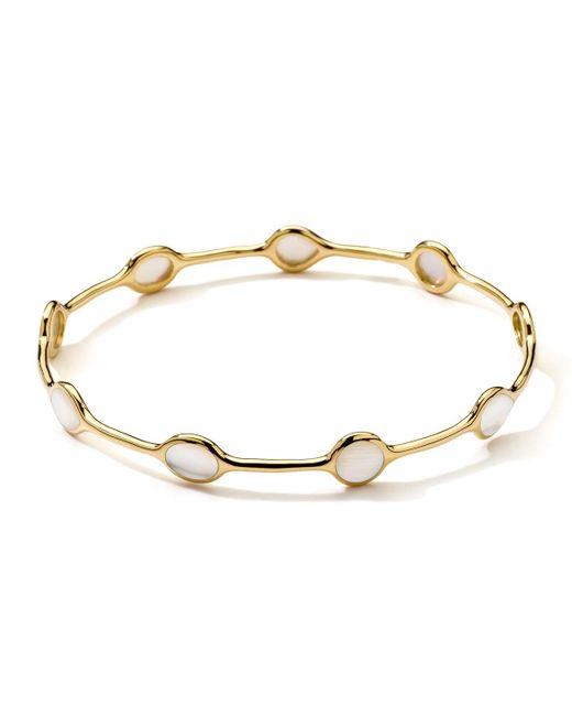 Ippolita - Metallic 18k Gold Rock Candy® Gelato Mother-of-pearl Bangle - Lyst