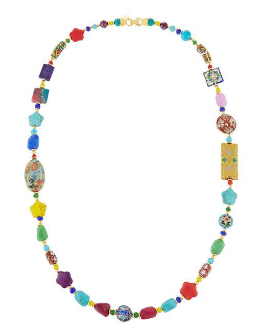 Jose & Maria Barrera - Multicolor Long Bright Decoupage Cloisonné Necklace - Lyst