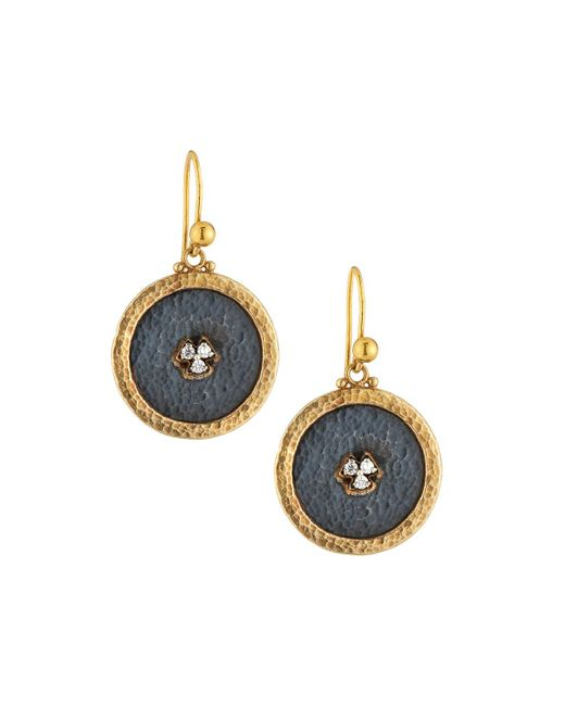 Gurhan | Blue Imperial Granulated Round Drop Earrings | Lyst