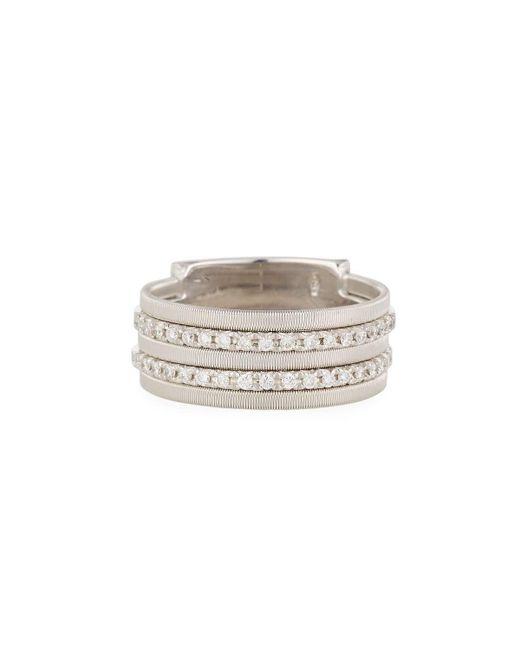 Marco Bicego   Metallic Goa Five-row Pavé Diamond Ring   Lyst