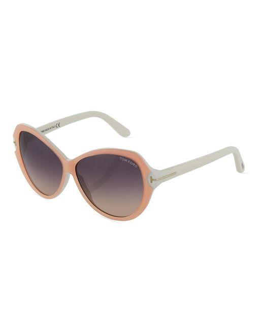 Tom Ford - Multicolor Plastic Round Sunglasses - Lyst