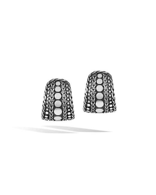 John Hardy - Black Dot Nuansa J-hoop Earrings - Lyst
