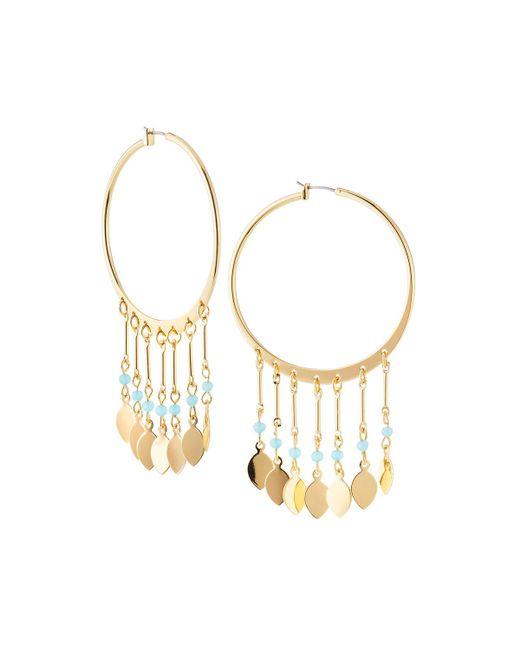 Lydell NYC - Metallic Multi-drop Hoop Earrings - Lyst