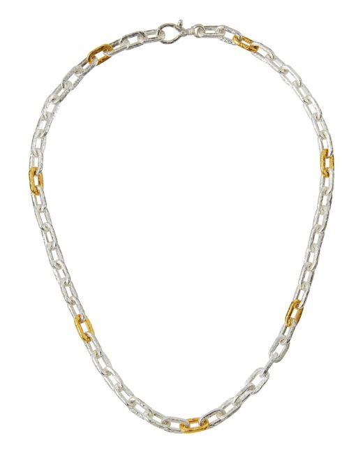 Gurhan - Metallic Two-tone Oval-link Chain Necklace - Lyst