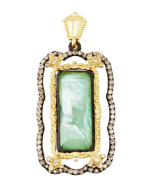 Armenta   Green Old World Quartz Triplet Enhancer W/ Champagne Diamonds   Lyst