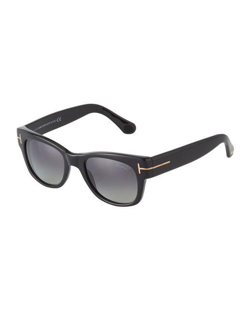 Tom Ford - Black Square Acetate Sunglasses for Men - Lyst