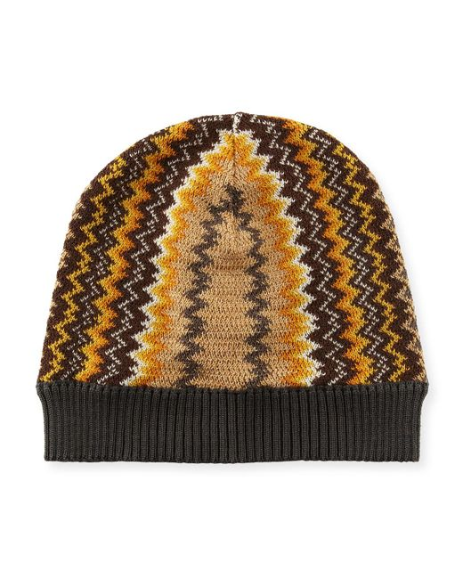 621f16ac405 Missoni - Multicolor Zigzag Patterned Beanie for Men - Lyst. View fullscreen