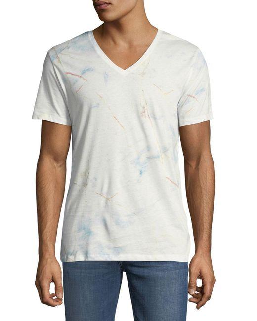 Antony Morato - White Men's Brake-market Marbled V-neck T-shirt for Men - Lyst