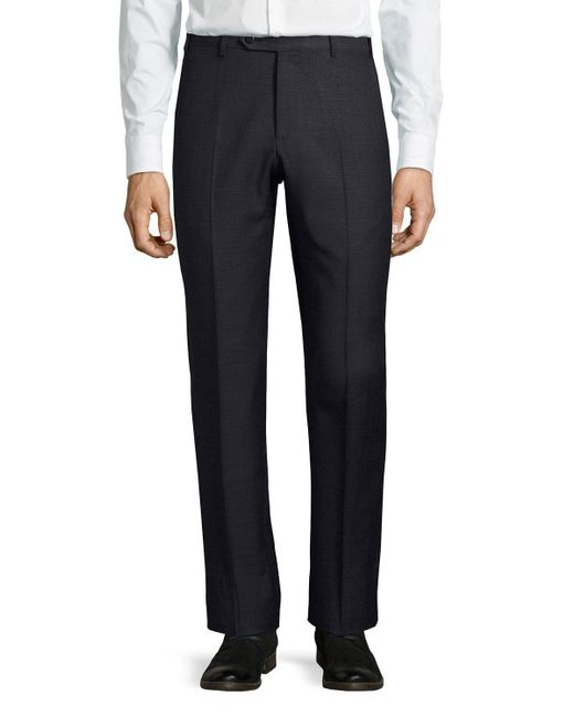 Zanella | Blue Parker Wool Pants for Men | Lyst