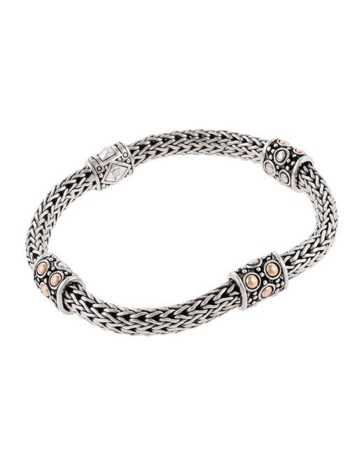 John Hardy | Metallic Jaisalmer Gold & Silver Four Station Bracelet | Lyst