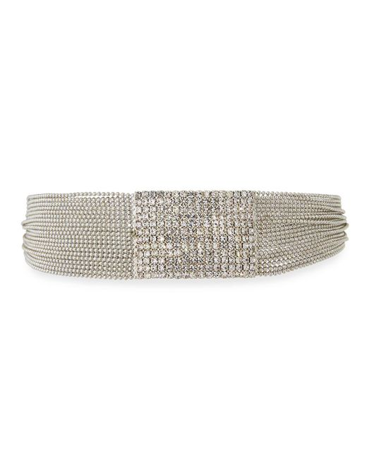 Fragments - Metallic Pavé Clear Crystal Choker - Lyst