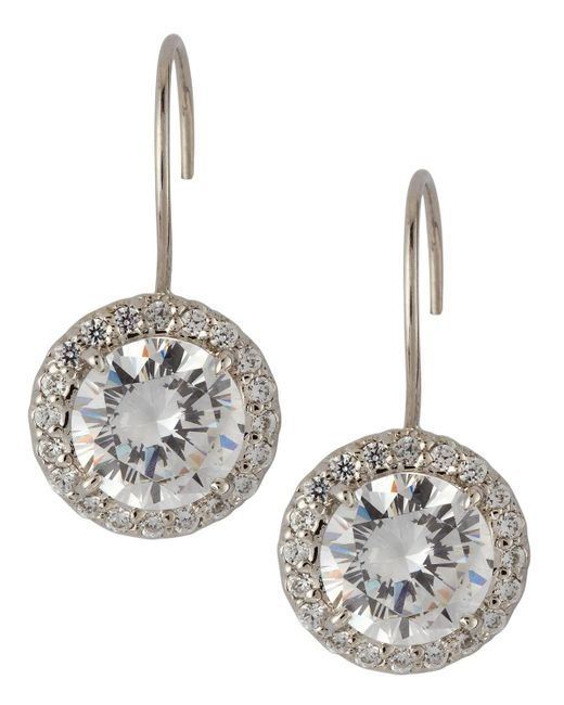 Fantasia by Deserio | Metallic Antique Round Cubic Zirconia Drop Earrings | Lyst