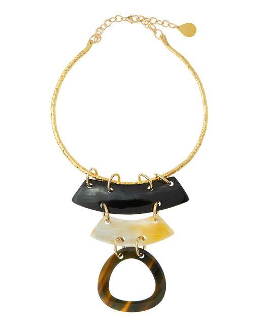 Devon Leigh - Multicolor Layered Horn Collar Pendant Necklace - Lyst