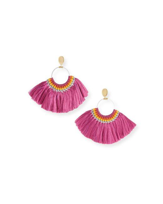 Nakamol - Pink Semicircle Fringe Earrings - Lyst