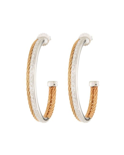 Alor - Multicolor Classique Diamond Hoop Earrings - Lyst