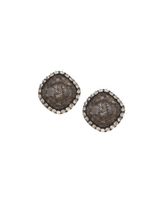 Lydell NYC | Multicolor Dark Crystal Cushion Stud Earrings | Lyst
