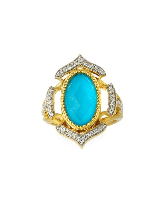 Jude Frances | Metallic Malta 18k Diamond & Turquoise Doublet Ring | Lyst