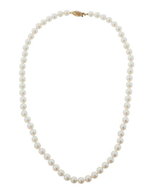 Belpearl - Metallic 14k Akoya Pearl Necklace - Lyst