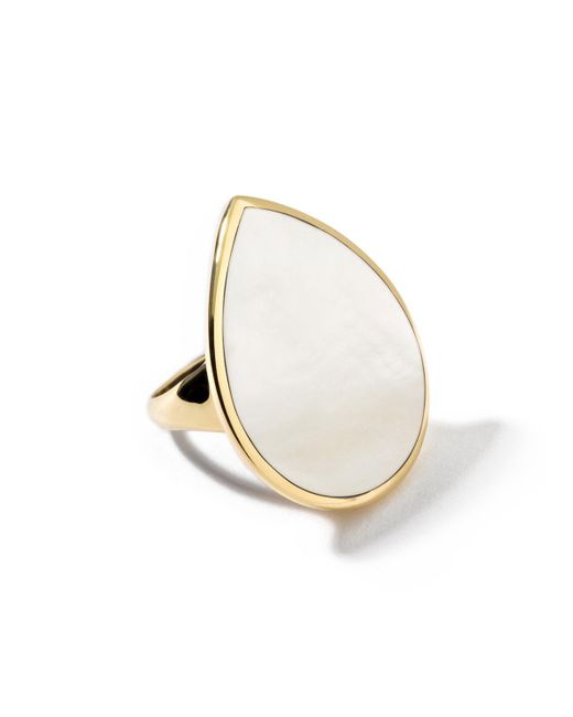 Ippolita | Metallic 18k Teardrop Rock Candy Mother-of-pearl Ring | Lyst