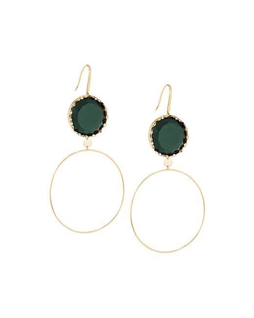 Lana Jewelry   Green 14k Midnight Dangle Hoop Earrings   Lyst